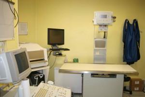 Salle d'échographie et radiologie numérique Clinique Vétérinaire de Bléré